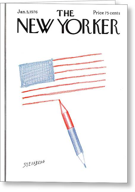 New Yorker January 5th, 1976 Greeting Card