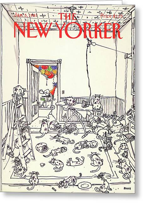 New Yorker January 5th, 1981 Greeting Card by George Booth