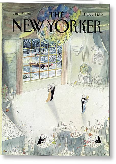 New Yorker January 5th, 1987 Greeting Card by Jean-Jacques Sempe