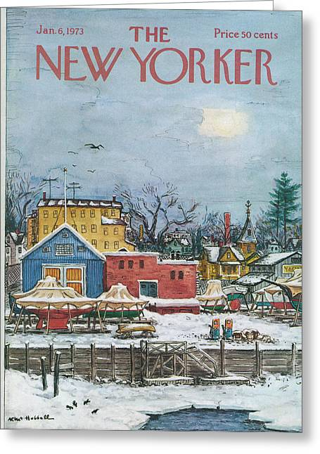 New Yorker January 6th, 1973 Greeting Card