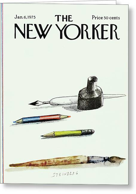 New Yorker January 6th, 1975 Greeting Card