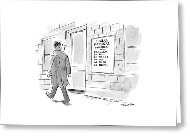 New Yorker January 6th, 1986 Greeting Card by James Stevenson