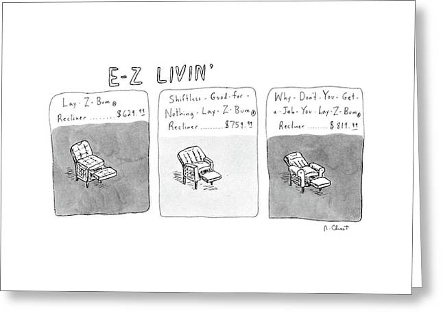 New Yorker January 6th, 1986 Greeting Card