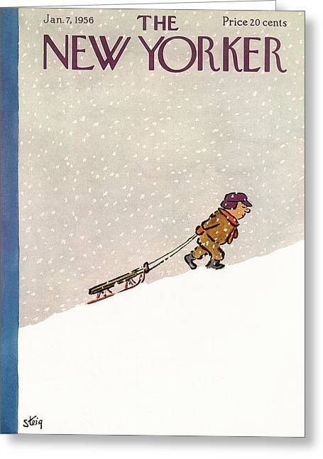 New Yorker January 7th, 1956 Greeting Card