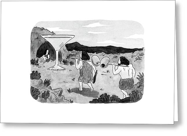 New Yorker January 7th, 1991 Greeting Card by Danny Shanahan
