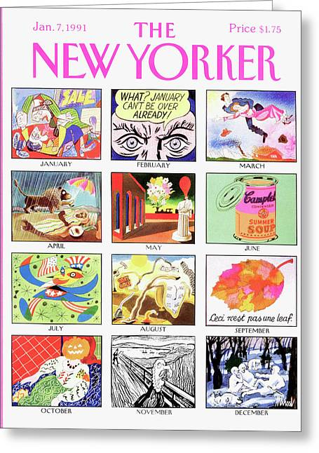 New Yorker January 7th, 1991 Greeting Card