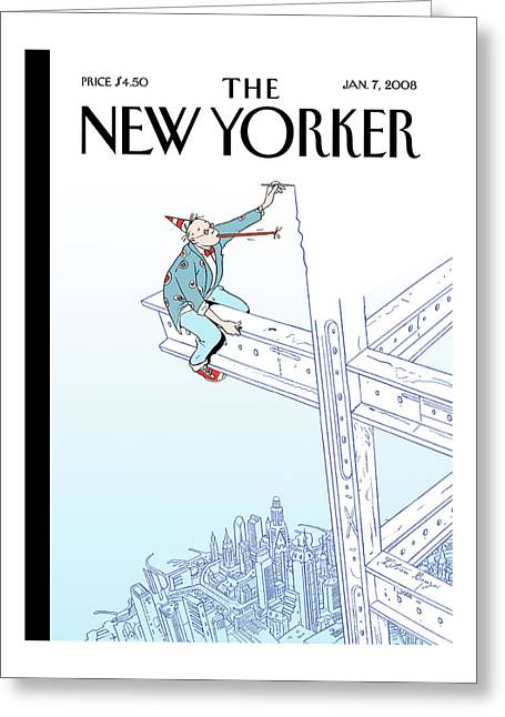 New Yorker January 7th, 2008 Greeting Card