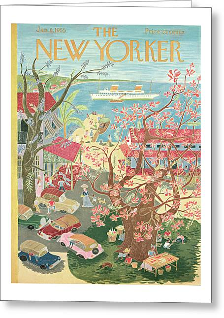 New Yorker January 8th, 1955 Greeting Card