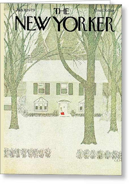 New Yorker January 8th, 1979 Greeting Card by Charles E. Martin