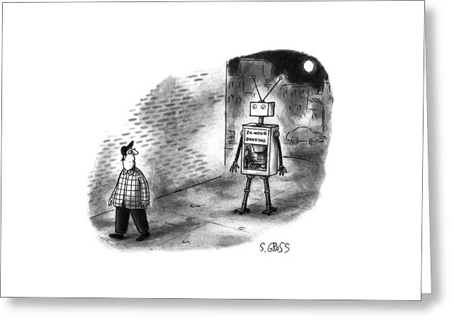 New Yorker January 8th, 1996 Greeting Card by Sam Gross
