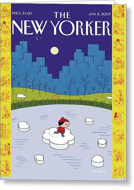 New Yorker January 8th, 2007 Greeting Card by Ivan Brunetti