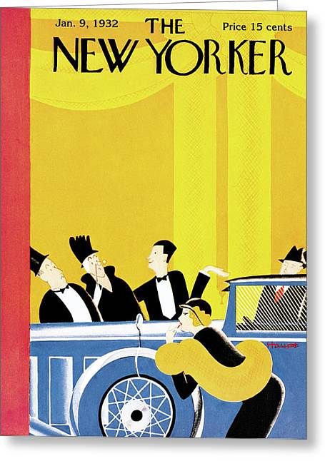 New Yorker January 9th, 1932 Greeting Card by Theodore G. Haupt