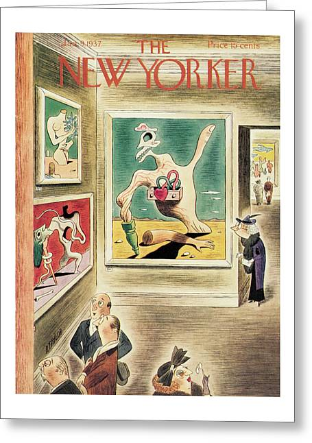New Yorker January 9th, 1937 Greeting Card