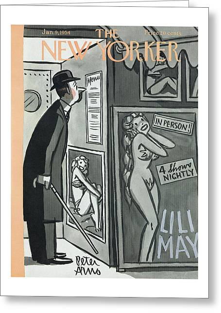 New Yorker January 9th, 1954 Greeting Card