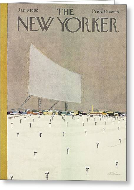 New Yorker January 9th, 1960 Greeting Card
