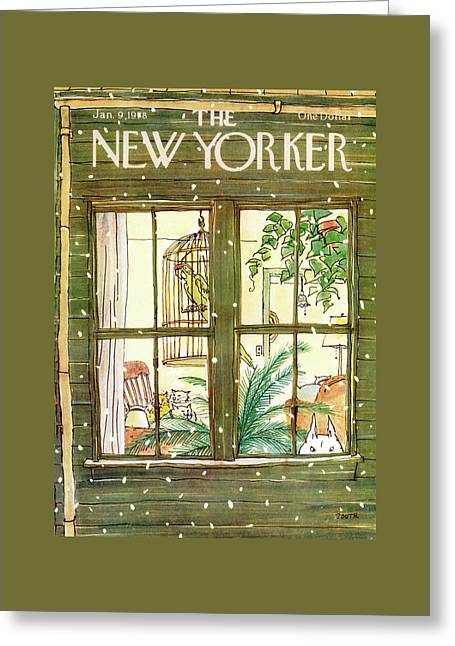 New Yorker January 9th, 1978 Greeting Card by George Booth