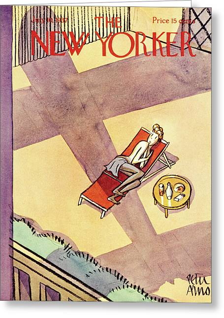 New Yorker July 10 1937 Greeting Card