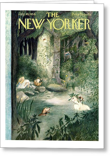 New Yorker July 10th, 1954 Greeting Card