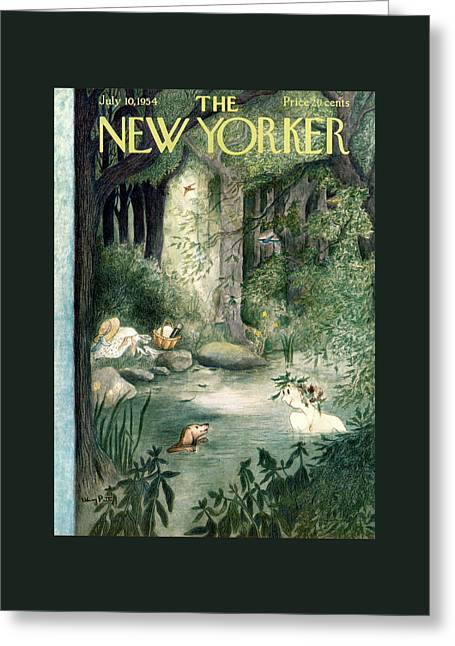 New Yorker July 10th, 1954 Greeting Card by Mary Petty