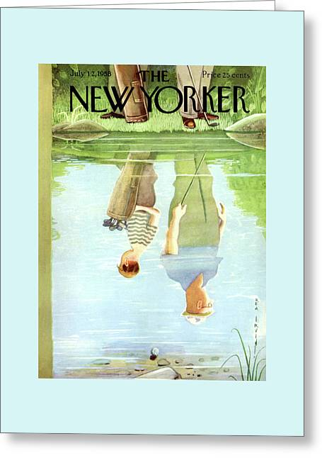 New Yorker July 12th, 1958 Greeting Card by Rea Irvin