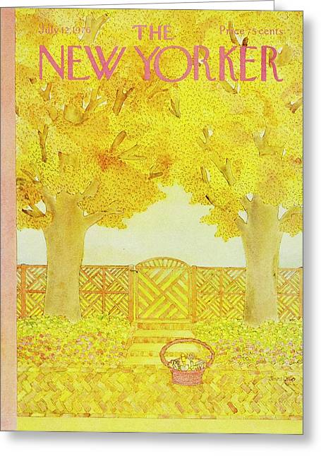 New Yorker July 12th 1976 Greeting Card