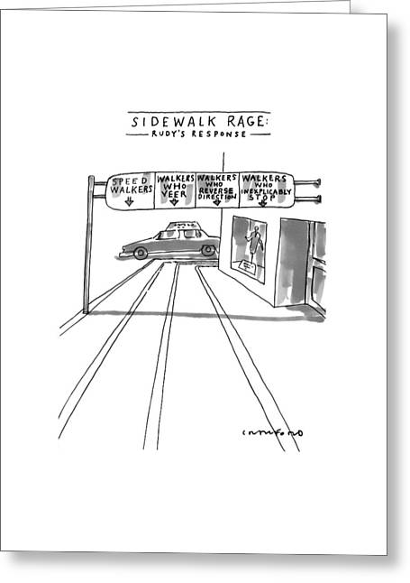 New Yorker July 12th, 1999 Greeting Card by Michael Crawford