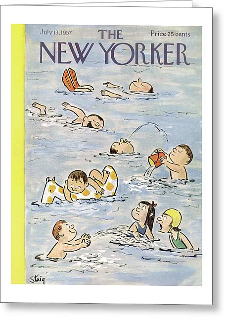 New Yorker July 13th, 1957 Greeting Card