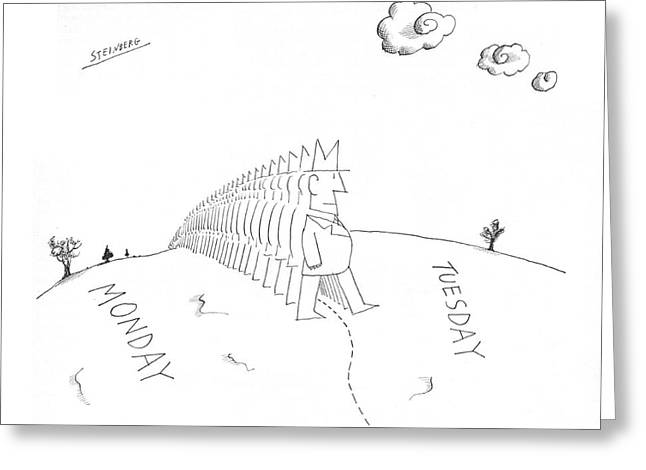 New Yorker July 13th, 1968 Greeting Card by Saul Steinberg