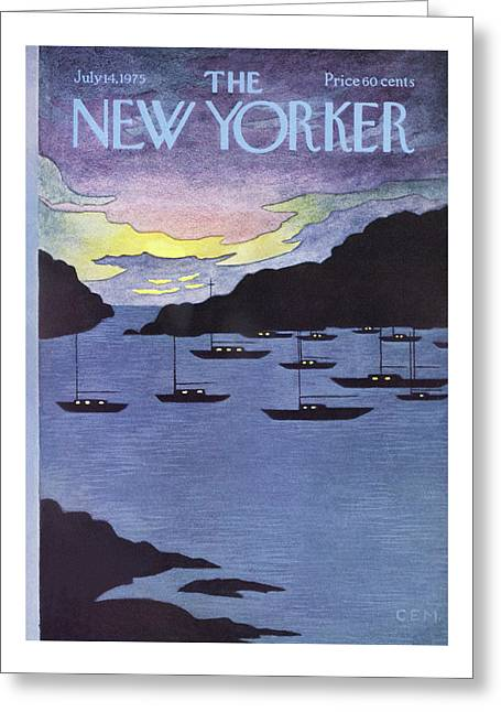 New Yorker July 14th, 1975 Greeting Card