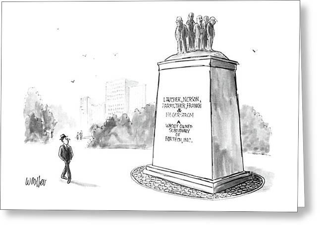 New Yorker July 14th, 1986 Greeting Card