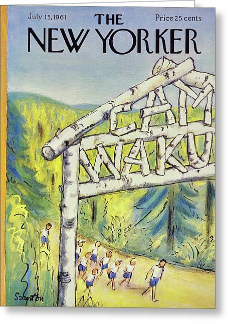 New Yorker July 15th 1961 Greeting Card