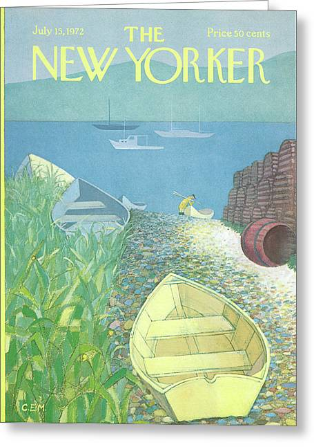 New Yorker July 15th, 1972 Greeting Card