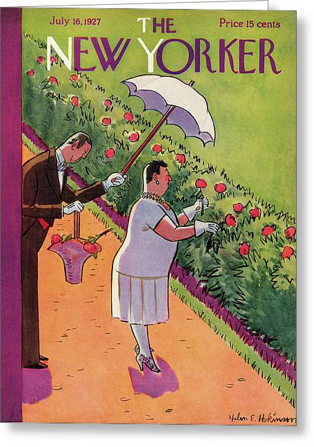 New Yorker July 16th, 1927 Greeting Card by Helen E. Hokinson