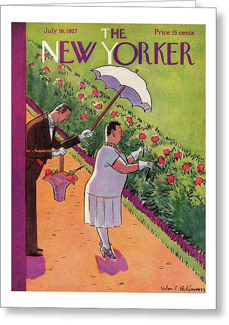 New Yorker July 16th, 1927 Greeting Card