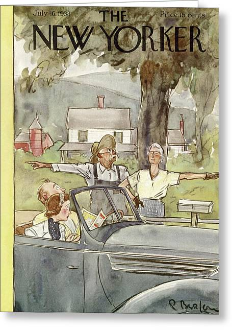 New Yorker July 16th, 1938 Greeting Card