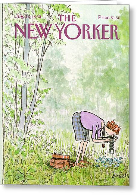 New Yorker July 16th, 1984 Greeting Card by Charles Saxon