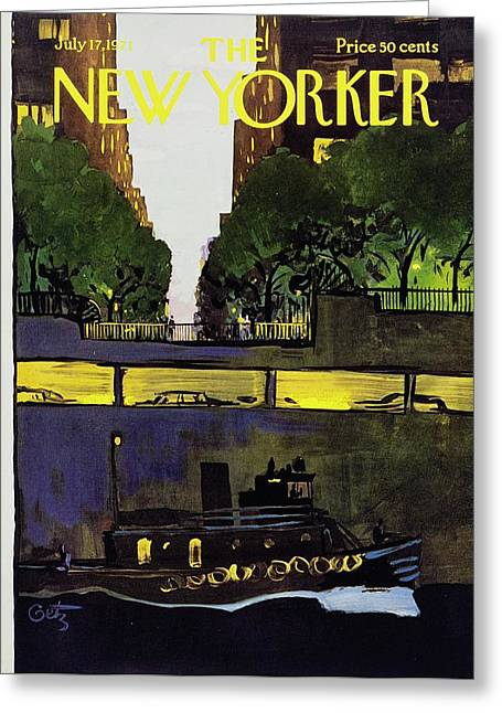 New Yorker July 17th 1971 Greeting Card