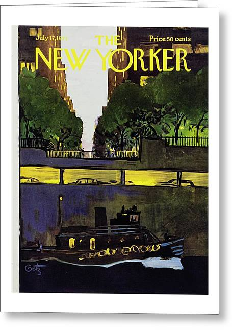 New Yorker July 17th 1971 Greeting Card by Arthur Getz