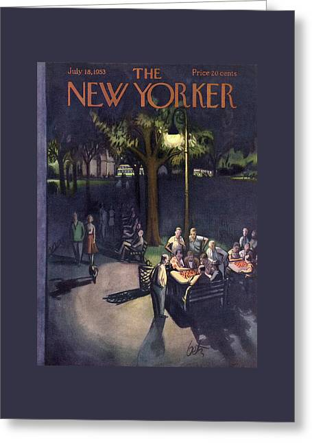 New Yorker July 18th, 1953 Greeting Card by Arthur Getz
