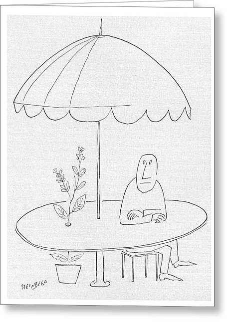 New Yorker July 18th, 1953 Greeting Card by Saul Steinberg