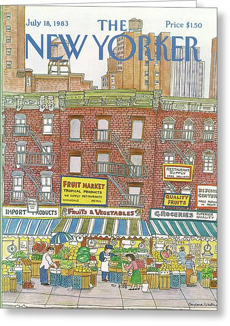 New Yorker July 18th, 1983 Greeting Card by Barbara Westman