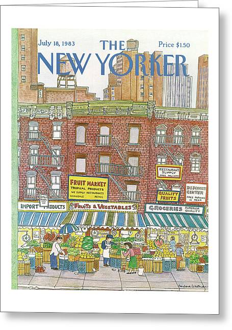 New Yorker July 18th, 1983 Greeting Card
