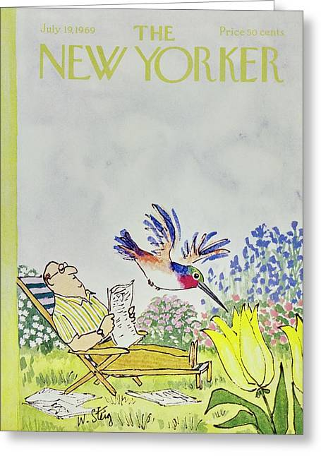New Yorker July 19th 1969 Greeting Card