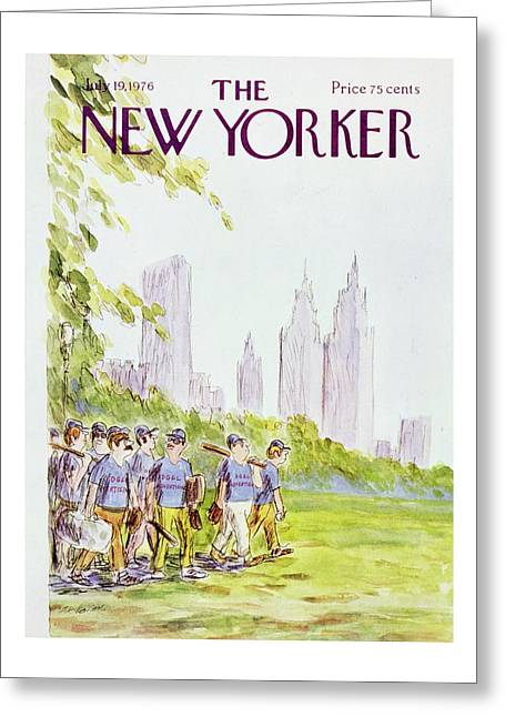 New Yorker July 19th 1976 Greeting Card