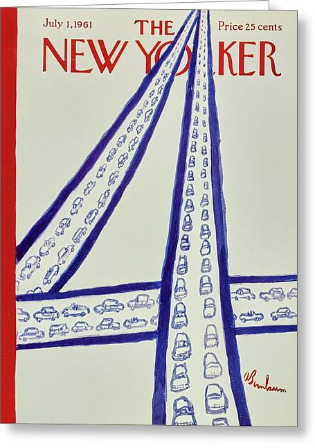 New Yorker July 1st 1961 Greeting Card
