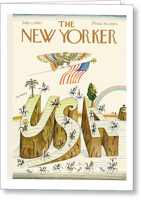 New Yorker July 1st, 1967 Greeting Card