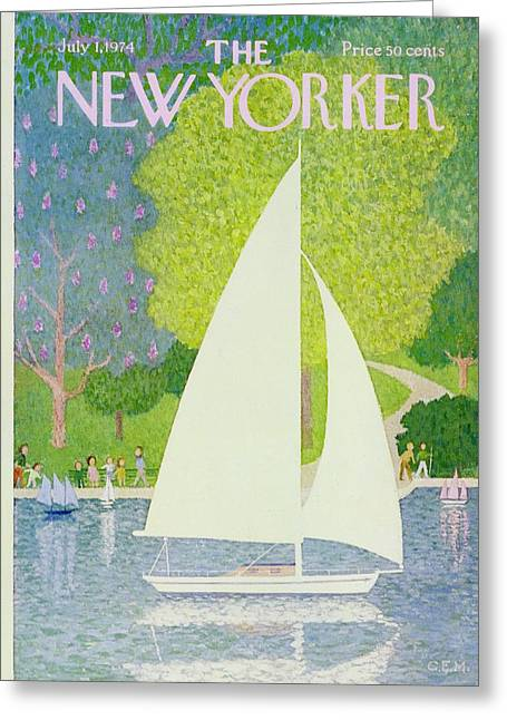 New Yorker July 1st 1974 Greeting Card by Charles Martin