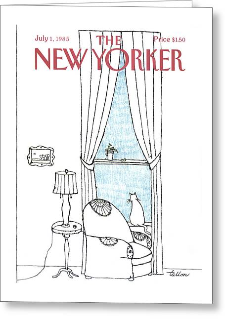 New Yorker July 1st, 1985 Greeting Card