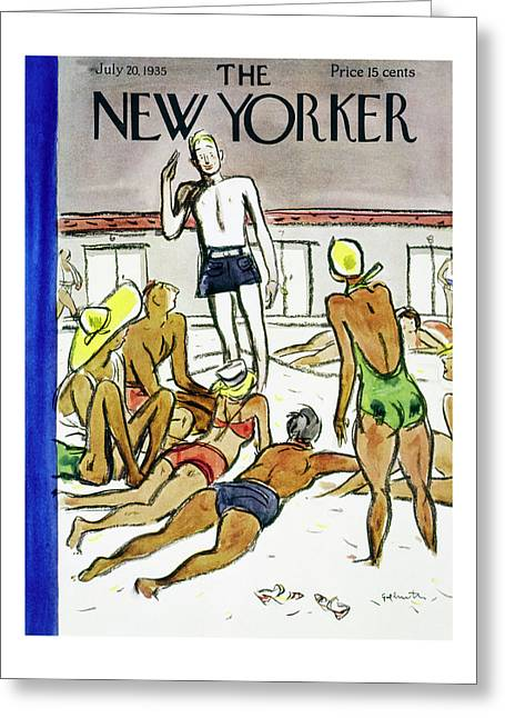 New Yorker July 20 1935 Greeting Card