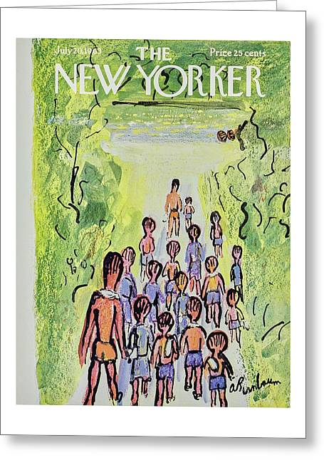 New Yorker July 20th 1963 Greeting Card